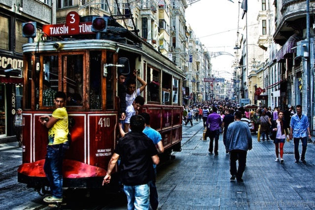 Istanbul Istiklal Street Nostalgic Tram
