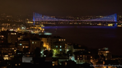 Bosphorus Bridge at night