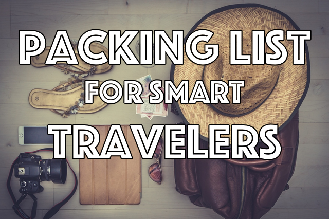 Packing List for Smart Traveler