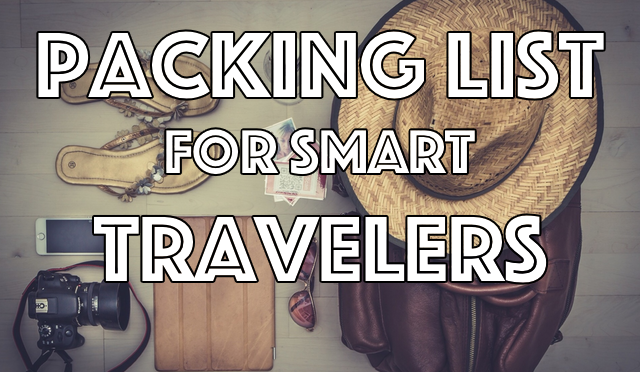 Packing list for smart travelers