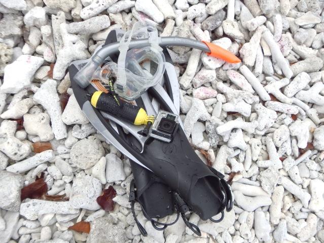 Bonaire snorkelling gear gopro