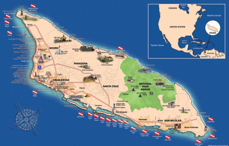 Aruba-Tourist-Map