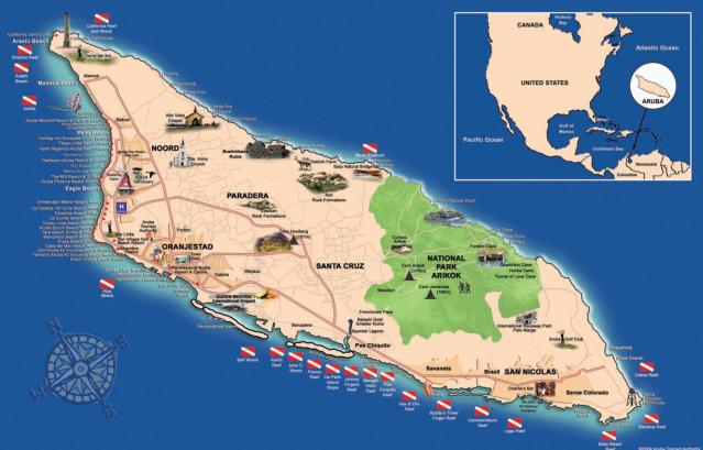 Aruba-Tourist-Map
