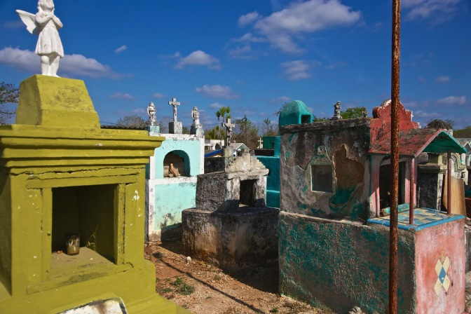 A random cemetery in Mexico