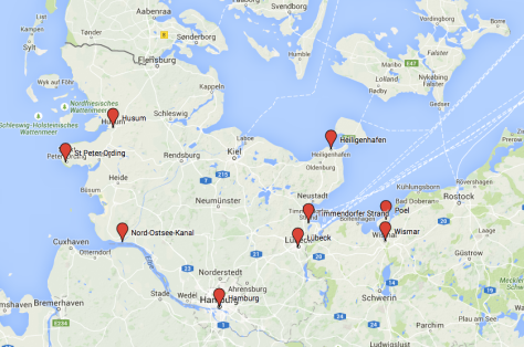 daytrips from hamburg map