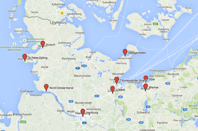 daytrips from hamburg map