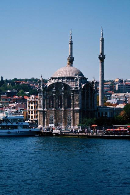 istanbul ortaköy mosque view from ferry