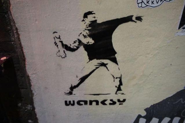 street art in london banksy wanksy