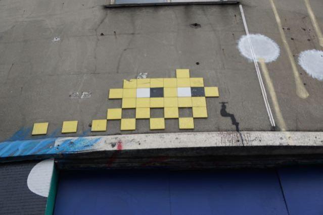 street art in london invader old street