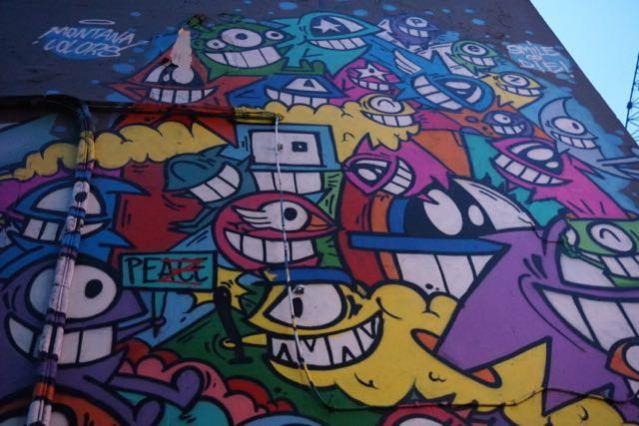 street art in london pez brick lane