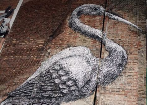 street art in london roa Hanbury Street near brick lane