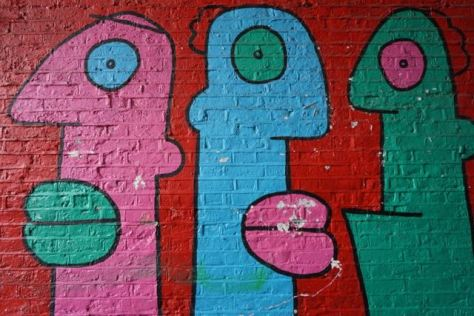 street art in london Thierry Noir shoreditch