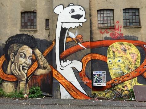 street art in hamburg various artists gängeviertel