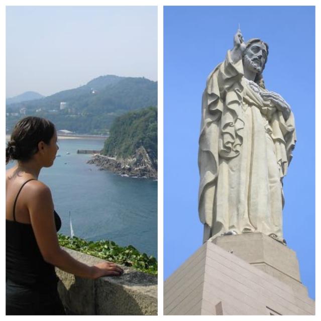 things to do in san sebastian monte urgull mota castle jesus statue