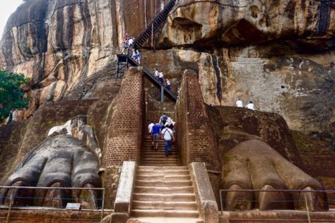Visit Sigirya Rock in Sri Lanka - The Lion Paws - The Lion Gate