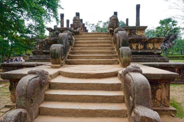 Visiting ancient city Pollonaruwa Sri Lanka - Audience Hall