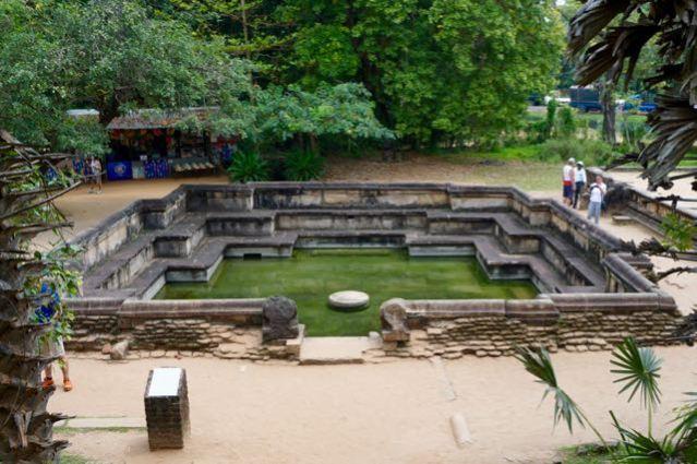 Visiting ancient city Pollonaruwa Sri Lanka - Royal Bath