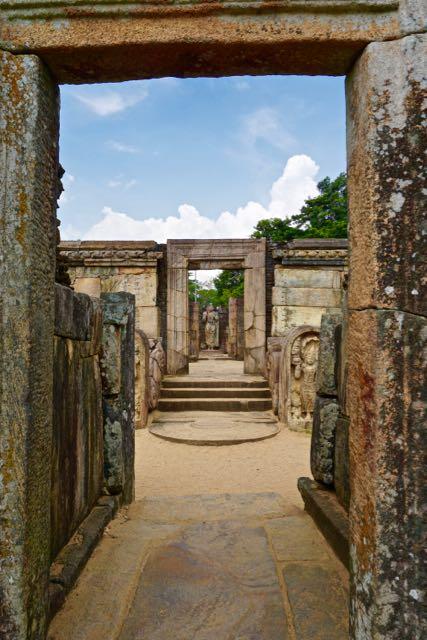 Visiting ancient city Pollonaruwa Sri Lanka - Sacred Quadrangle Hatadage
