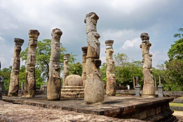 Visiting ancient city Pollonaruwa Sri Lanka - Sacred Quadrangle Nissanka Latha Mandapaya