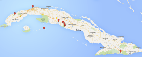 2 weeks in Cuba - Travel Itinerary Map