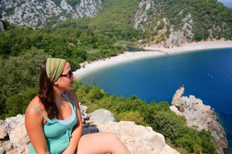 Summer vacation in Olympos Beach - Mediterranean Sea - Antalya - Turkey