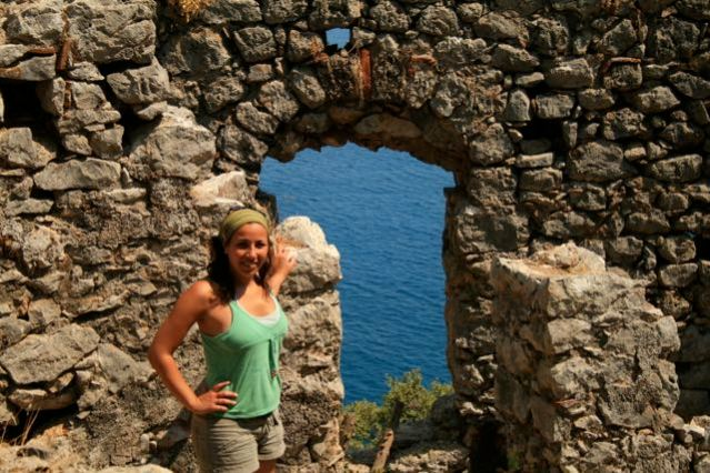 Summer vacation in Olympos - The Ruins of the Lycian City - Mediterranean Sea - Antalya - Turkey