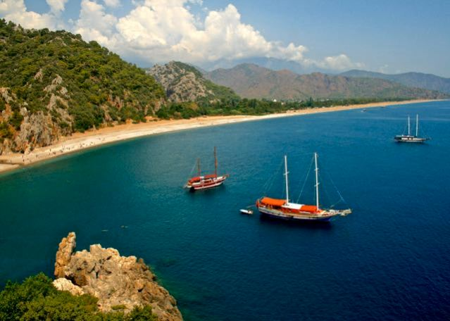 Summer vacation in Olympos - View from Hill - Mediterranean Sea - Antalya - Turkey