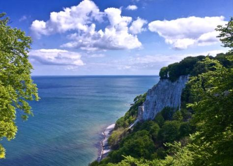 Things to do in Rügen Island in Baltic Sea in North East Germany - White Chalk Cliffs in Königsstuhl King's Chair