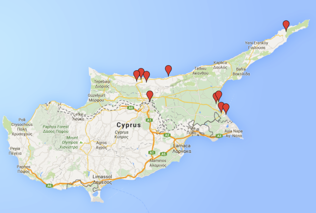 Travel itinerary for North Cyprus