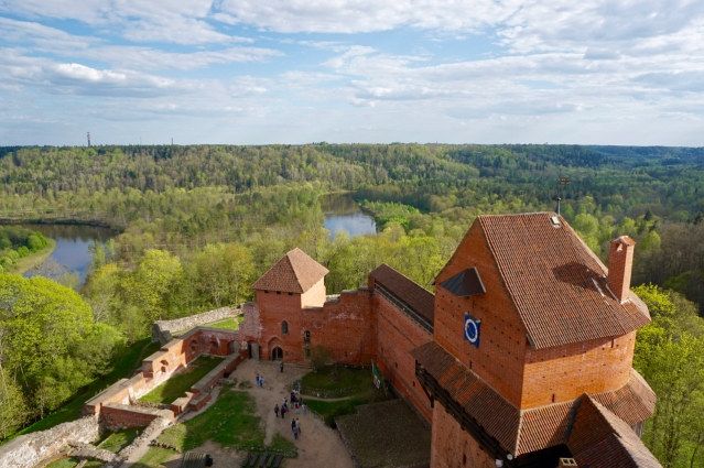 Day trip from Riga to Sigulda - Views of Gauja National Park from Turaida Castle Tower