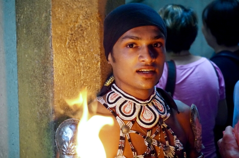 2 days in Kandy Central Province of Sri Lanka - A fire dancer from the Traditional Fire and Show