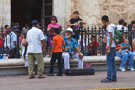 Things to do in 2 days in Merida - Yucatan Peninsula - Mexico - Catedral de Merida - People gathering in front of the cathedral