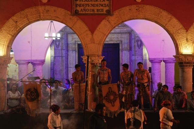 Things to do in 2 days in Merida - Yucatan Peninsula - Mexico - Plaza Grande de Merida - Traditional Eastern Celebrations