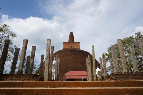 Visiting Ancient City of Anuradhapura in Sri Lanka - Abhayagiri Dagoba