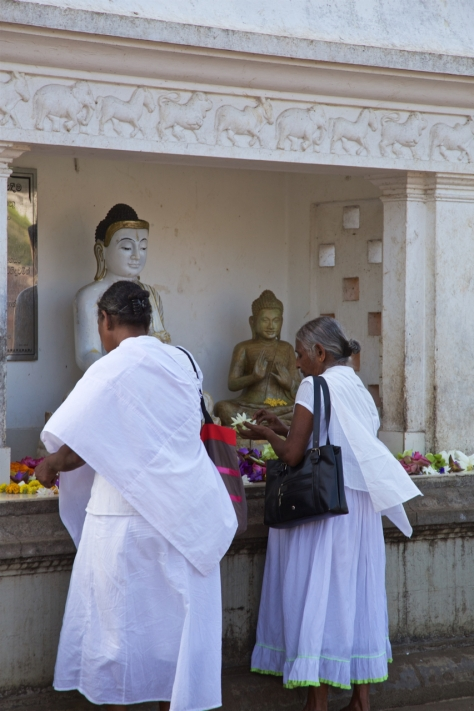 Visiting Ancient City of Anuradhapura in Sri Lanka - Buddhist Religious Day