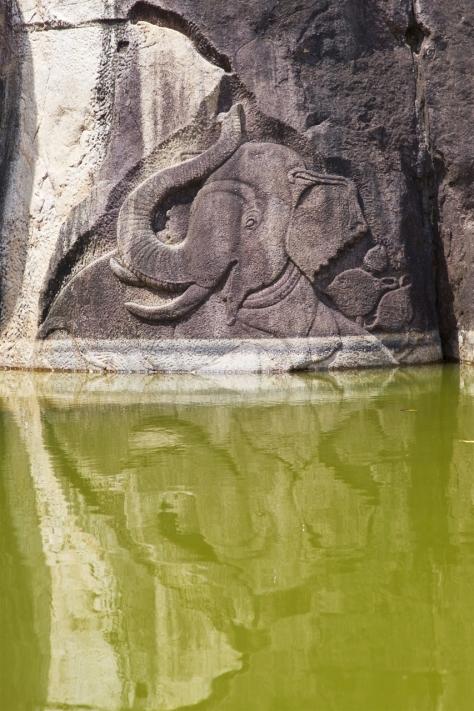 Visiting Ancient City of Anuradhapura in Sri Lanka - Isurumuniya Vihara Elephant Carvings
