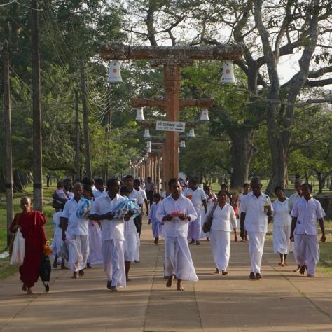 Visiting Ancient City of Anuradhapura in Sri Lanka - Ruwanweliseya Buddhist Ceremonie