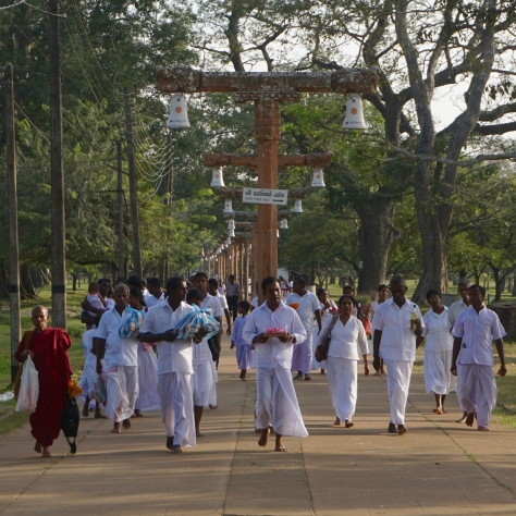 Visiting Ancient City of Anuradhapura in Sri Lanka - Ruwanweliseya Buddhist Ceremonie