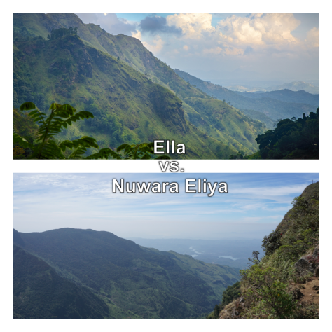 Ella or Nuwara Eliya - Where to go in Hill Country in Sri Lanka