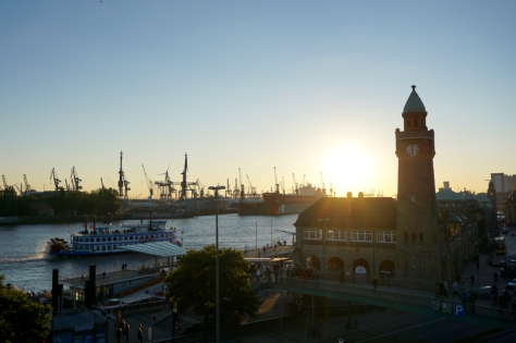 Insider Travel Guide to Hamburg - Germany - Panoramic Views of Hamburg - Platform above Train Station Landungsbrücken